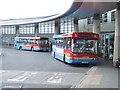 NZ3956 : Buses in Park Lane Interchange by Malc McDonald
