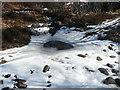 NN8758 : Icy ford on Allt Lochan Sgaradh Gobhair by Russel Wills