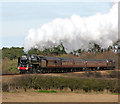 TG1242 : Britannia Pacific 70013 'Oliver Cromwell' between Sheringham and Weybourne by Evelyn Simak
