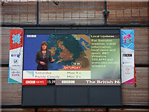 SU1484 : Public television, Brunel Centre, Swindon by Brian Robert Marshall