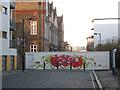 TQ3279 : Lant Street barricaded by Stephen Craven