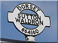 ST8616 : Sutton Waldron: signpost detail by Chris Downer