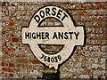 ST7603 : Ansty: detail of Higher Ansty signpost by Chris Downer