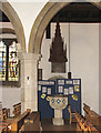 TQ1289 : St John the Baptist, Church Lane, Pinner - Font by John Salmon