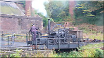 SJ6903 : Trevithick locomotive in action - Blists Hill by Peter Comeau