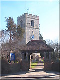 TQ0381 : St Peter's Church and lychgate Iver by Rod Allday