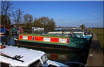 SP4907 : Boats moored at Medley by Steve Daniels