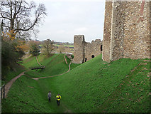 TM2863 : Framlingham Castle moat by Chris Gunns