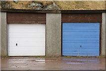 HU4642 : Lock-up garages, Holmsgarth Road, Lerwick by Mike Pennington