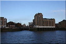 TQ3680 : Limehouse Marina Entrance by Andrew Wood