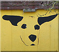 TM0092 : Dog's face on building at Dogs Trust Rehoming Centre by Evelyn Simak