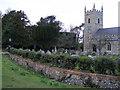 TL8262 : Ha Ha at St Leonard's Church, Horringer by PAUL FARMER