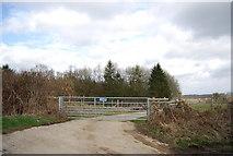 TQ7035 : Gate off Roger's Rough Rd by N Chadwick