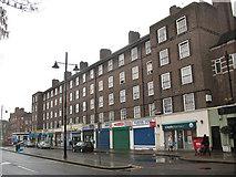 TQ3279 : Ellington House and shops, Harper Road by Stephen Craven