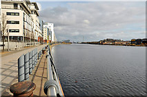 NS5566 : Glasgow Harbour by Steven Brown
