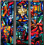 TM1579 : The church of St Andrew in Scole - east window (detail) by Evelyn Simak
