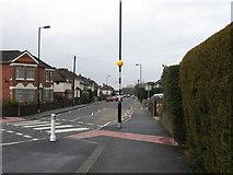 SU4512 : Zebra crossing, Deacon Road, Southampton by Alex McGregor