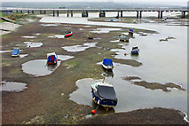 TQ2105 : Boats and pools, River Adur by Robin Webster