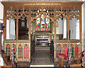 TM2079 : The church of SS Peter and Paul in Brockdish - rood screen (restored) by Evelyn Simak