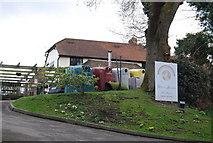 TQ7035 : Recycling bins, The Globe and Rainbow Inn by N Chadwick