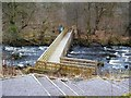 NS7883 : Footbridge over the River Carron by Lairich Rig