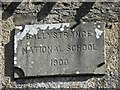 C1004 : Plaque, Ballystrance National School by Kenneth  Allen