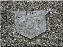 O0598 : Plaque on Dromiskin Church by Kieran Campbell