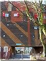 NZ2664 : Dunn Terrace, Byker Wall (detail) by Andrew Curtis