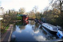 TQ2883 : Regent Canal Turn by Andrew Wood