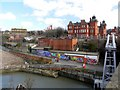 NZ2664 : Ouseburn from Walker Road Bridge by Andrew Curtis