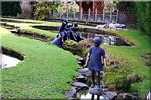 SJ6651 : Statues in Stapeley Water Gardens by Steve Daniels
