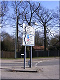 TM3877 : Roadsign on A144 Saxons Way, Halesworth by Adrian Cable