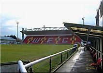 TQ0057 : Woking Football Club - ground and Leslie Gosden Stand by P L Chadwick