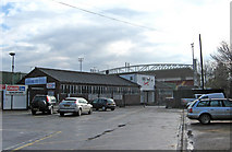 TQ0057 : Woking Football Club - Kingfield Stadium by P L Chadwick