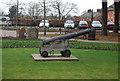TQ5846 : Cannon outside Tonbridge Castle by N Chadwick
