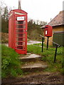 SY5096 : West Milton: postbox № DT6 4 and phone by Chris Downer