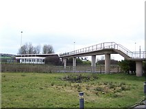 SD6211 : Bridge over the M61, Bolton West Services by Terry Robinson