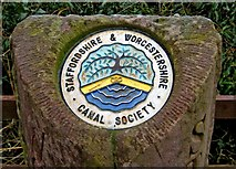 SO8581 : Staffordshire & Worcestershire Canal boundary stone plaque by P L Chadwick