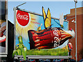 J3373 : Coca-Cola advertisement, Belfast by Albert Bridge