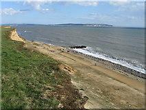 SZ2492 : Cliff top view, Barton on Sea by Alex McGregor