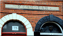 "J3372 : ""Ferndean"" sign, Belfast by Albert Bridge"