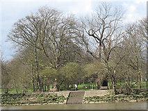 TQ1773 : Riverside steps at Twickenham by Stephen Craven