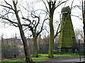 TQ2674 : Remains of a Windmill on Wandsworth Common by tristan forward