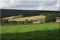 SX7379 : Field boundaries and the Giant's Chair near Jay's Grave by Adrian Platt