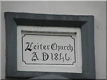 C1620 : Plaque, Letter Presbyterian Church by Kenneth  Allen
