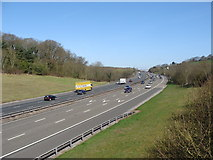 ST3857 : M5 near Christon, looking towards Bristol by Ruth Sharville