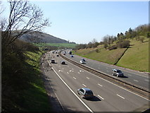 ST3857 : M5 near Christon, looking towards Taunton and the South West by Ruth Sharville