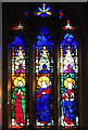 TG0206 : The church of St Peter in Reymerston - east window by Evelyn Simak