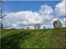 SU1070 : Stones lining the ditch, Avebury by Christine Johnstone