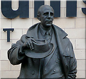 SO9199 : Statue of Stan Cullis (detail), Molineux Stadium, Wolverhampton by Roger  Kidd